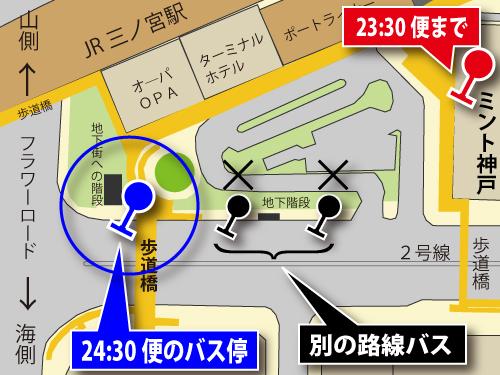 ジャンボフェリー神戸のりば行き連絡バス・バス停